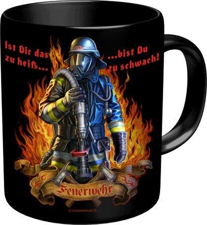 RAHMENLOS® Kaffeebecher für den Feuerwehrmann: Ist das zu heiss…Im Geschenkkarton 2563