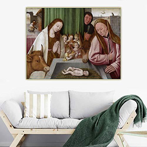 Kits de pintura por números para adultos Hieronymus Bosch Belén de pintura por números kits de pintura en lienzo