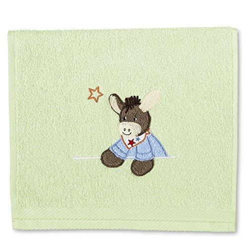 Sterntaler Serviette pour enfants Emmi, Âge: à partir de 0 Mois, 30 x 50 cm, Vert