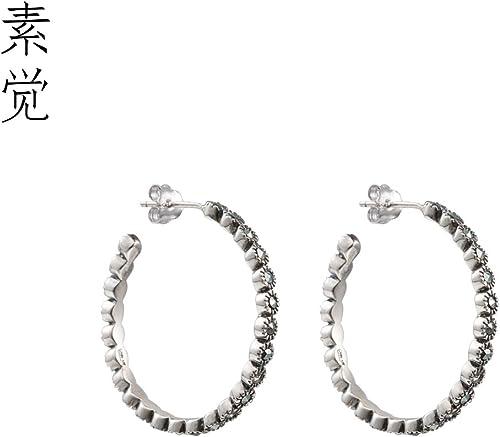 BAGEHAN 925 Silber mit Intarsien Silber Ohrringe handgefertigt Lady Ohrschmuck Ohrringe Ring VerzWeißung Ohrstecker