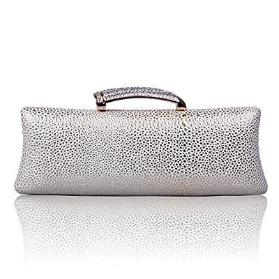 ECOSUSI PU Leather Rhinestone Evening Wedding Party Handbag Clutch Purse Wallet