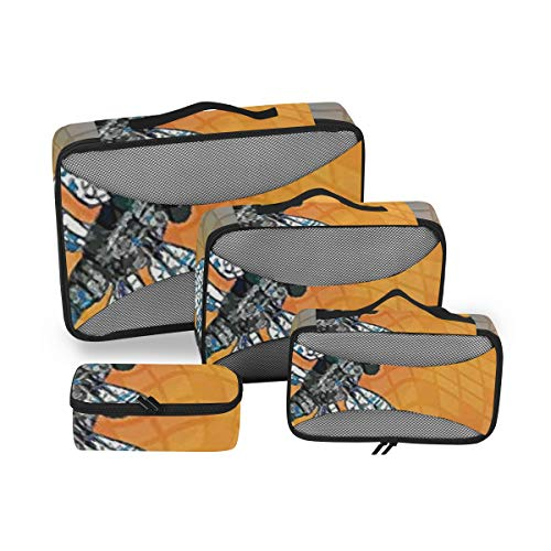 Dragonfly 4pcs Toiletry Bag for Men and Women Travel Organizer for Makeup and Toiletries Case for Cosmetics and Toilet Accessories