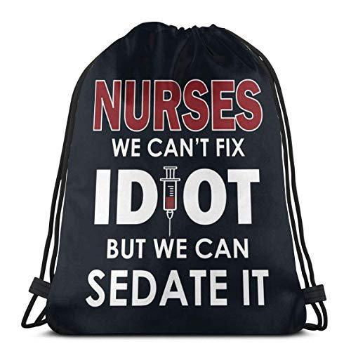 Bolsa de almacenamiento para enfermeros con cordón , lavable, para viajes, deportes, gimnasio, hombres y mujeres, 36 x 43 cm