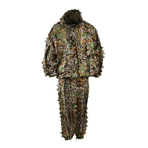 gfeu Outdoor Erwachsene 3D Blätter Ghillie Suit Camouflage Poncho Camo Cape Umhang Stealth Military CS Woodland Jagd Kleidung frei Größe