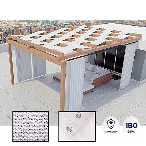 GDMING Toldo De Sombra Exterior con Ojales Intimidad Cerca Protector Solar Permeable Decoración para Patio Balcón Pérgola Conducción Cochera Durable Poliéster, 50 Tamaños