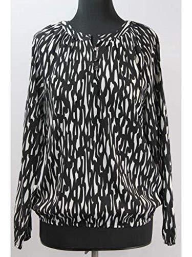 ERFO Tunika-Bluse schwarz-Weiss Größe 42