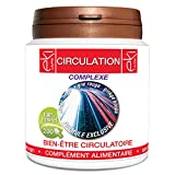 Complexe Circulation | Sauge | Noyer | Vigne Rouge | Ginkgo Biloba | Cyprés | 200 gélules | Bien Être Circulatoire | 250 mg dosage 100% naturel sans additif et non comprimé | EKI LIBRE