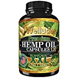 Hemp Oil Capsules XXL 2,000,000 - Ashawagandha and Melatonin Supplement - Anxiety, Stress, Joint, Lower Knee, Neck Pain Relief - Sleeping and Mood Support Pills - Made in The USA
