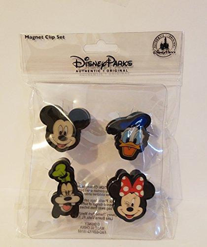 Disney Parks Mickey Donald Duck Goofy Minnie Mouse Lenticular Magnet Clip Set
