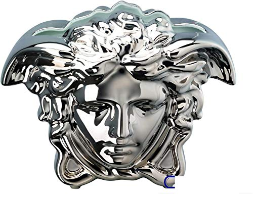 Versace Rosenthal - Vase - Medusa Grande - Silber - Höhe: 15 cm - Porzellan - super edel und luxuriös