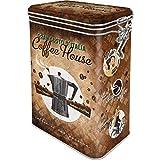 Nostalgic-Art Retro Kaffeedose - Coffee & Chocolate - Coffee House, Blech-Dose mit Aromadeckel, Vintage Geschenk-Idee für Kaffee-Liebhaber, 1,3 l