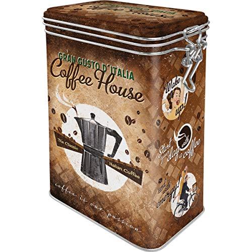 Nostalgic-Art Retro Kaffeedose Coffee House – Geschenk-Idee für Kaffee-Liebhaber, Blech-Dose mit Aromadeckel, Vintage Design, 1,3 l