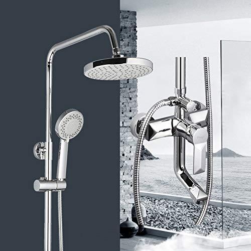 GHKUFH Sistema de Ducha 1 Juego de grifos de Ducha de Lluvia para baño, Grifo Mezclador con rociador de Mano, Juegos de Ducha de baño montados en la Pared, manija única