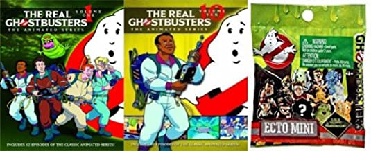 An American Classic: The Real Ghostbusters (the animated series) Vol 1/ Vol 10 & Ghostbusters Movie Ecto Minis Mystery Blind Bag (2 Pack DVD Bundle)