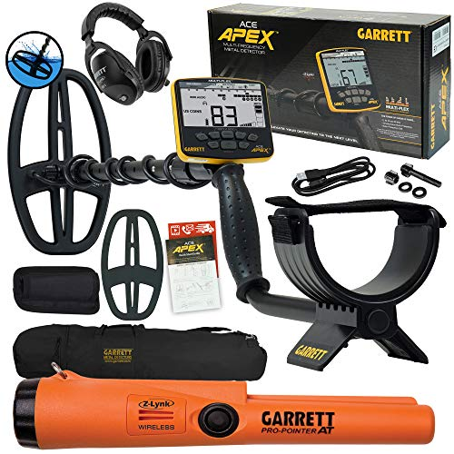 Garrett ACE APEX Detector w/Z-Lynk Headphones, Pro-Pointer at Z-Lynk, and Bag