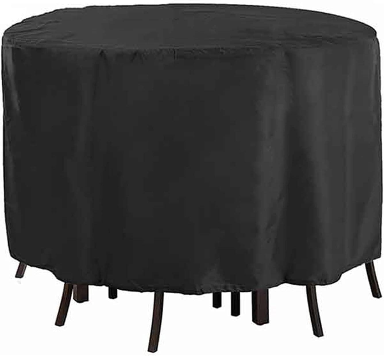 ZWYSL Cubiertas para Muebles Jardín Cubo Adecuado para Mesas Redondas, Sofá, Mesa Picnic a Prueba de Viento Cubierta de Muebles, 25 Tamaños, Personalizable (Color : Negro, Size : 260x110cm)