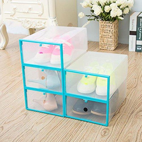 Xuan - Worth Another Bleu 5 Pcs (29 * 20 * 11cm) Boîte de Chaussure Transparente en Plastique Type de tiroir Shoebox Boîte de Rangement antipoussière Boîte de Finition