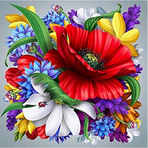 5D DIY diamante pintura flor rosa punto de cruz taladro completo bordado diamante mosaico imagen de diamantes de imitación decoración regalo A17 30x40cm