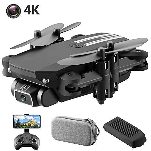 SBUNA 2.4G WiFi 4K RC Drohne mit Kamera 8MP Ultra HD, Kamera-Live-Video EIN-Tasten-Rückkehr Drohnen Follow Me Video Höhe-halten Quadcopter Drone, 13 Minuten Flugzeit, Tragbare Tasche,Schwarz