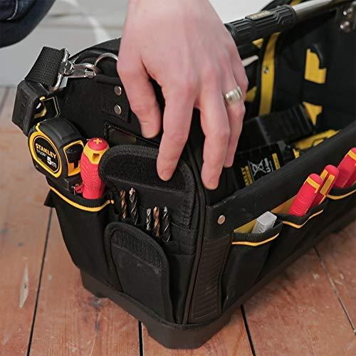 Stanley FatMax Werkzeugtrage, 48x33x22cm, 600 Denier Nylon, wasserdichter Kunststoffboden, ergonomischer Gummigriff, Rahmen stahlverstärkt, verstellbarer Schultergurt, 1-93-951 - 11