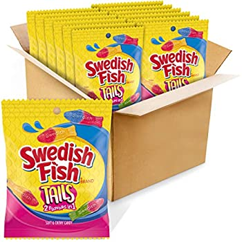 SWEDISH FISH Tails Candy 12 Bags  5 oz
