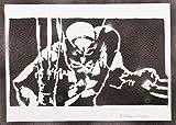 Poster Lobezno X-Men Grafiti Hecho a Mano - Handmade Street Art - Artwork