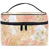 Pink Romantic Flowers Toiletry Cosmetic Bag Travel Makeup Organizer Portable Multifunción Case-800-N278
