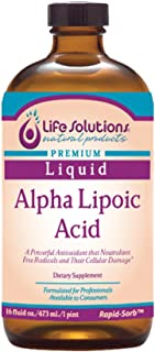 Life Solutions Alpha Lipoic Acid, 16oz, 50mg Per Serving Formulated for Professionals Available to Consumers