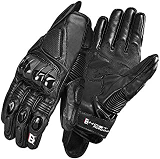 Homme Motorcycle Gloves, Hard Shell Motorcycle Gloves Men's PVC Palm Mat, Windproof Non-Slip Motorcycle Gloves for Riding Outdoor Motorcycle ATV Motorcycle Equipment