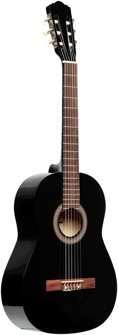 Right SCL50-BLK Black Stagg 6 String Classical Guitar Full Size