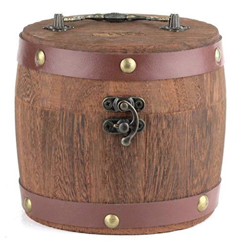 Mr. Brog Wooden Barrel Tobacco Humidor