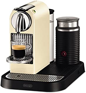 DeLonghi Nespresso Citiz & Milk White EN265CWAE - Cafetera monodosis (19 bares, preparación manual cappuccino, modo ahorro energía), color crema