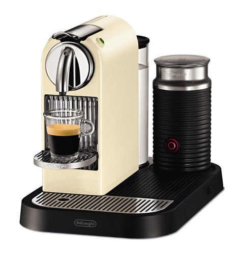 DeLonghi EN 265 CWAE 60s Nespresso Citiz Milk 19 bar Flow Stop mit separatem Aeroccino, white