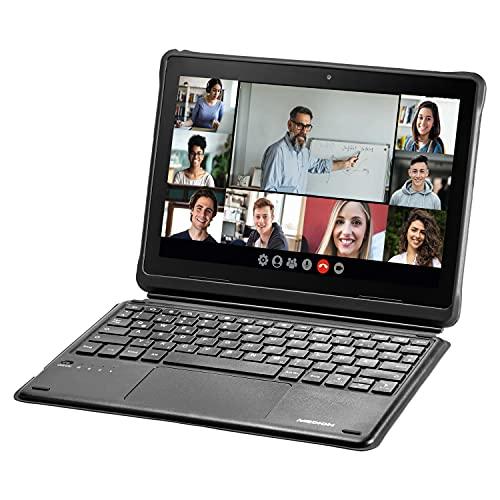 MEDION Tablet Schutzhülle mit Abnehmbarer Bluetooth Tastatur MD 61059 (integrierter Standfuß & Stifthalter, kompatibel mit den MEDION Education Tablets)
