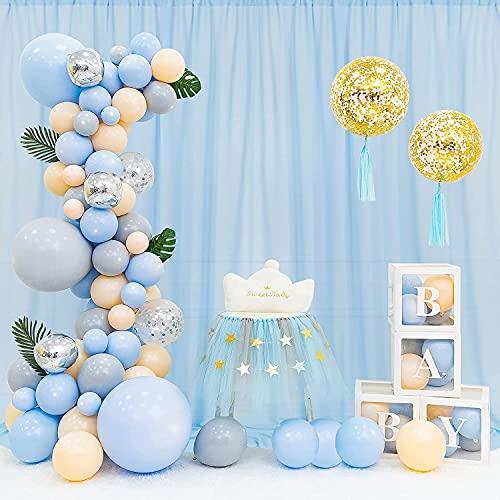 Baby Blue Chiffon Backdrop Wedding Photo Backdrop 10x10ft Sheer Backdrop for Parties Wedding Arch Draping Fabric