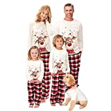 WZPG Pijamas Familiares A Juego De Navidad, Conjunto De Ropa Interior Térmica Básica De Dos Piezas, Pijamas A Juego para El Perro, Bebé Y Niños, Adolescentes Y Adultos,Dog,S