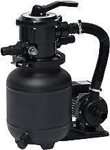 vidaXL Pompe de Filtration à Sable avec Vanne à 7 Positions Pompe de Filtration de Piscine Filtre à Sable Système de Filtr...