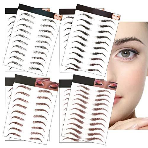 UFLF 8 Blatt 6D Augenbrauen Tattoo Aufkleber Wasserfest Eyebrow Tattoo Augenbrauen Shaping Haarähnliche Augenbraue Tätowierungen, 80 Paare