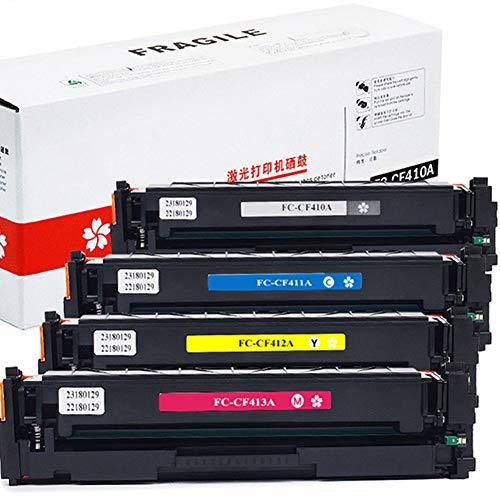 Cartucho de tóner de color CF410A Compatible con el cartucho de tóner original HP CF410A, CF411A, CF412A, CF413A, adecuado para la impresora láser color HP M477 M452 M377-4-color