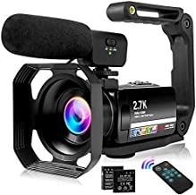 Video Camera 2.7K Vlogging Camera for YouTube 30MP Camcorder with Foldable Handheld Stabilizer Camcorder Video Camera 3.0