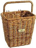 Nantucket Bicycle Basket Co. Cisco Pannier Basket with Hooks, Honey