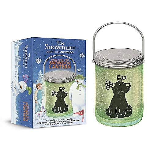 De Sneeuwman En De Sneeuwhond Maak Uw Eigen Sneeuwhond Lantaarn