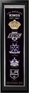 Encore Los Angeles Kings Logo History Felt Banner - 14 x 37 Framed