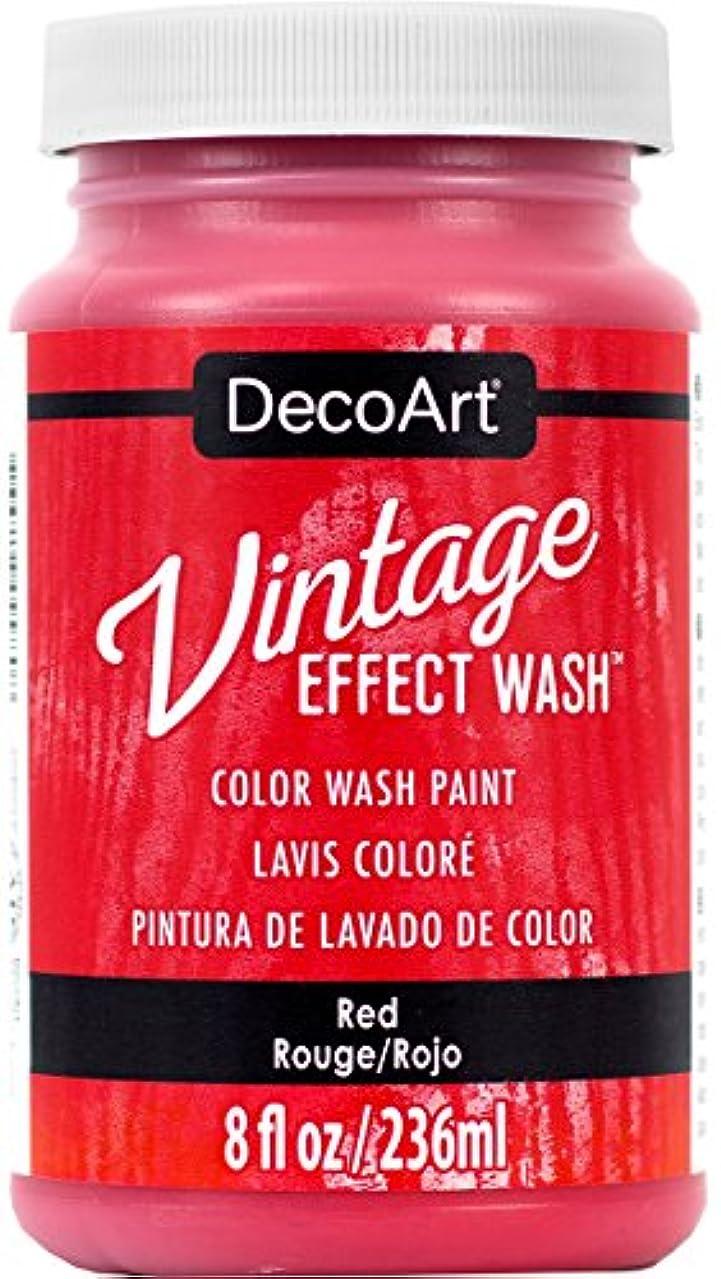 DecoArt Vintage Effect Wash 8oz, Red