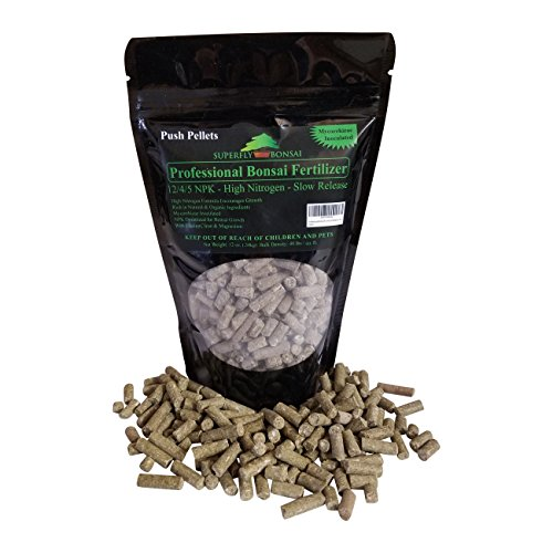 Professional Bonsai Fertilizer Pellets - Rich in Organic & Natural Ingredients - Slow Release Immediately fertilizes Then Over 1-2 Months - House Plants Cactus & Succulents (12 Ounce 12-4-5)
