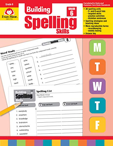 Compare Textbook Prices for Building Spelling Skills, Grade 6 Teacher ed. Edition ISBN 9781557998446 by Evan Moor