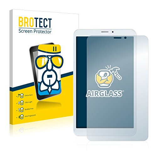 BROTECT Protector Pantalla Cristal Compatible con Mediacom SmartPad 8.0 S2 4G Protector Pantalla Vidrio - Dureza Extrema, Anti-Huellas, AirGlass