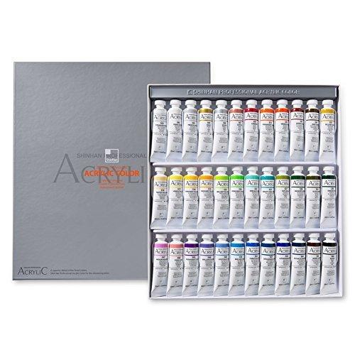 ShinHan Professional Acrylic Color 20ml 36colors Tube Set