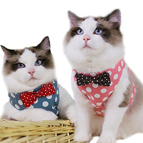 iikuru 猫用 ハーネス 猫 リード 胴輪 ねこ 子犬 小型犬 首輪 子猫 服 かわいい おしゃれ 散歩 ベスト x747