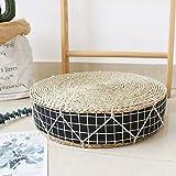 日本語 わら チェアークッション,手作り 畳 フロアクッション,厚く 布団 通気 性 パッド 入り 籐 チェアパッド 床枕 ホームインテリア Cc 40x40x10cm